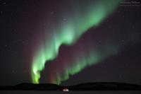 Ukonjärvi, Finnland, 14./15. März 2015 --- Geomagnetische Aktivität Kp2+
