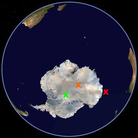 Antarktische Pole