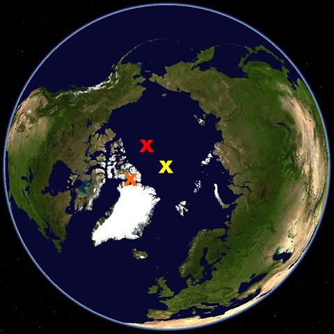 Arktische Pole