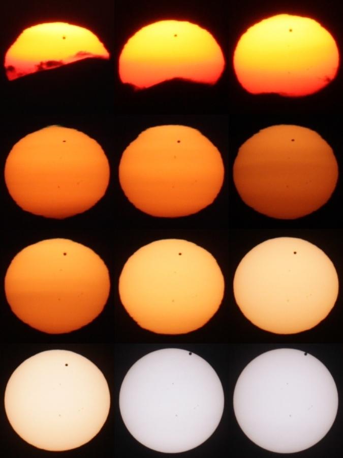 Venustransit vor der Sonne